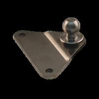 Bevestigingsplaat met kogel BA01/K13 RVS 316
