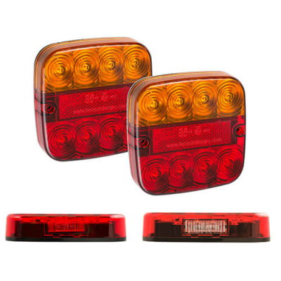 Rear lamp 2-pack LED universal 50cm cable 12v