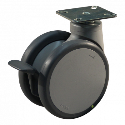Roulette pivotante 125mm série 55-75