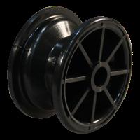 Komplettrad 3.00-4 V-5501 4PR + 2.10x4 Gleitlager Ø20 NL75 kunststoff, schwarz