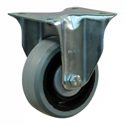 Fixed castor 128 Plate mounting 100mm series 14 - 15