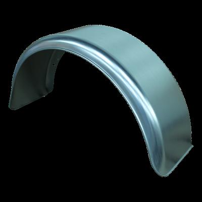 Spatscherm enkel as staal 130mm x 520mm rond model