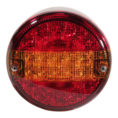 """Rear lamp Aspöck 3-function led light. """"Hamburger model"""" applicable left and right central plug connector 5 pole"""