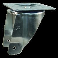 Roulette pivotante 3.00x4 bloc + 2.10X4 roulement à aiguilles Ø20 NL75 12 plastique, Rouge