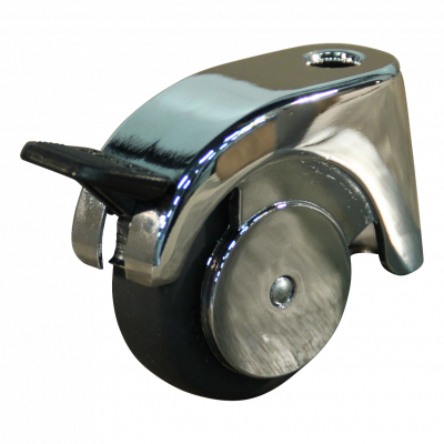 Roulette pivotante avec frein 50mm série 50-09