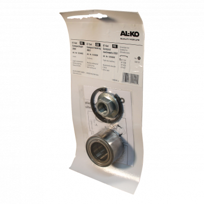 Compactlagerset waterdicht lager, borgring, flensmoer Ø34 x Ø64 x 34mm AL-KO rem 2051 Compact