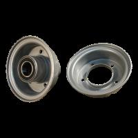 Roue + pneu 3.00-4 V-6605 6PR 2.10-4H2 ET0 roulement à billes Ø25 NL75 20 métal, gris