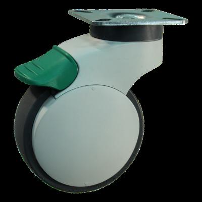 Roulette pivotante avec blocage directionnel 100mm bouwgroep 88X