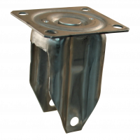 Fixed castor 135 Plate mounting 100mm serie 68 - 37