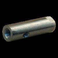 Zapfen 27x60mm mit Loch M12 und Loch M8 auf 20mm