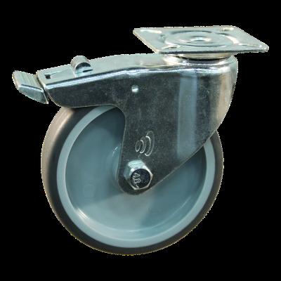 Lenkrolle mit Feststeller 100mm Serie 68-60