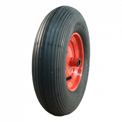 Komplettrad 4.80/4.00-8 V-5501A 2PR + 2.50Ax8 ET0 Rollenlager Ø20 NL100 Stahl, Rot