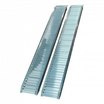 Set oprijplaten recht aluminium 2500 x 300