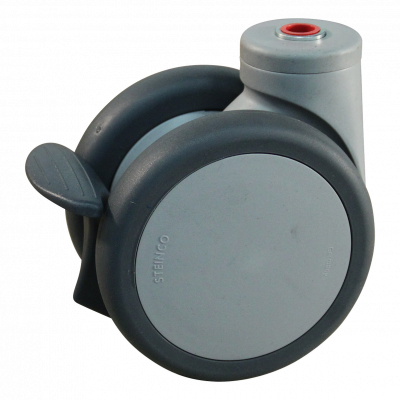Roulette pivotante avec frein 100mm série 55 - 74