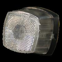 Breedtelicht met reflector Aspöck Squarepoint wit kabeltule aansluiting