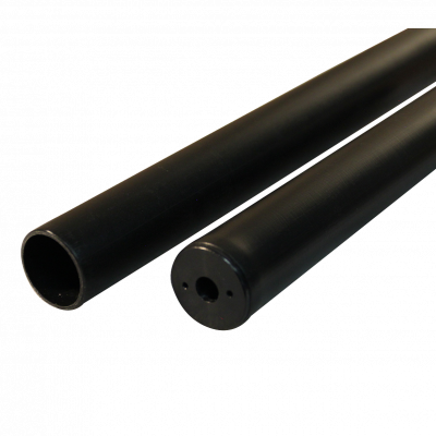 With protection tube 10-23 150 185 plastic, jet black RAL 9005