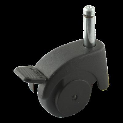 Roulette pivotante avec frein 50mm série 50-08