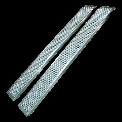 Set oprijplaten recht aluminium 1500 x 200