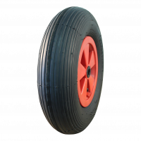 Komplettrad 4.80/4.00-8 S-2301 4PR + 2.50Ax8 Rollenlager Ø20 NL88 kunststoff, Rot