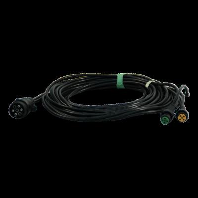 Cable harness 7-poles 7.5m with 7p plug, bajonet 5-polig , branching 2x 0,2m DC