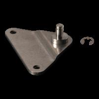 Plaque de fixation avec cheville inox BA01/Z06 équerre, 2 trous Ø5,3 mm à 55mm. Hauteur 7mm. Pin 6mm, Max. 500N. Retenue Incluant BA01/Z06+SICHERUNGV4a