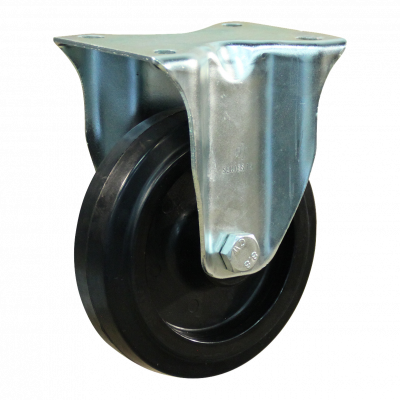 Fixed castor 128 Plate mounting 100mm series 07 - 15