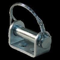 Bolt on mounting bracket hood hinge zinc plated Ø16mm