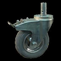 Swivel support with brake 7x1 3/4 (175x45) 1.25x3.8 (200x50) ET0 NL60 - 91 steel, grey