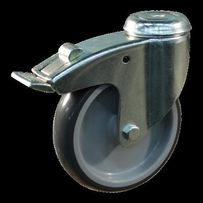 Lenkrolle mit Feststeller 125mm Serie 69-61