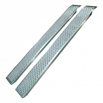 Set oprijplaten recht aluminium 2000 x 260