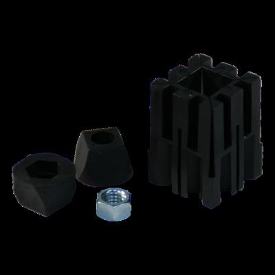 Montage par expansion pour tube carré 278/0003 adaptateurs – 030511 boulon d'adaptateur – 029044 2xtaquet