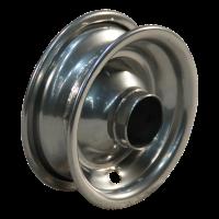 Roulette pivotante set 7x1 3/4 (175x45) C-179 4PR 1.25x3.8 (200x50) ET0 NL60 46 - 12 - 12 métal, gris