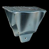 Fixed castor 3.00-4 V-6605 2PR 2.10x4 roller bearing Ø20 NL75 12 M12x100 plastic, red
