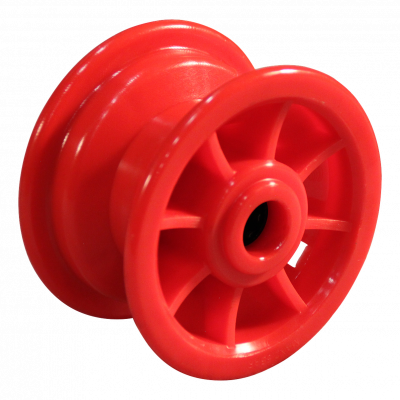 Rad 2.10x4 Rollenlager Ø20 NL75 kunststoff, Rot