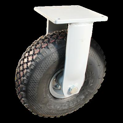 Fixed castor 4.00-4 V-6605 6 2.10-4H2 ET0 ball bearing Ø25 NL75 367 Plate mounting 20 steel, grey