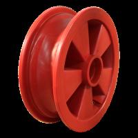 Rad 2.50Ax8 Kugellagersitz beide Seiten 47x14 NL75 kunststoff, Rot