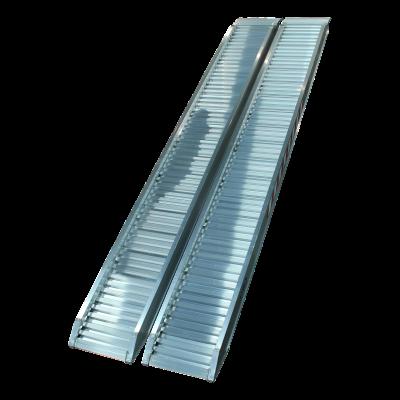 Set oprijplaten recht aluminium 3000 x 360