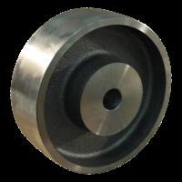 Fixed castor 150mm serie 45 - 20 M12x100