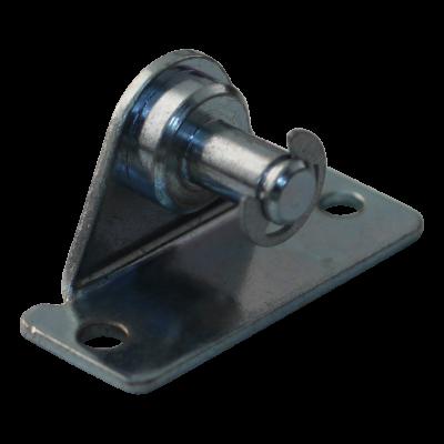 Bracket R8 BA30/Z08 zinc plated angle bracket, 16mm, 2 holes Ø4,3mm on 40mm, stud Ø8x11mm. Max 1200N, with lock ring BA30/Z08 +