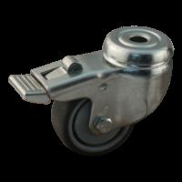 Lenkrolle mit Feststeller 70.5 Rückenloch 50mm Serie 68-60