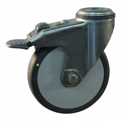Roulette pivotante avec frein 100mm serie 93 - 38
