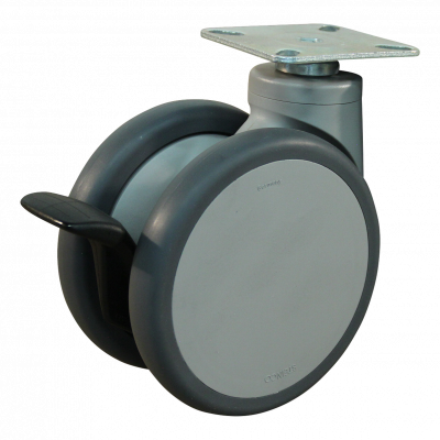 Roulette pivotante avec blocage directionnel 125mm série 55 - 74