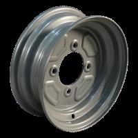 Komplettrad 4.50-10 KT-715 6PR + 3.50Bx10H2 ET0 85/115/4 76 N Stahl, grau