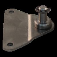Plaque de fixation avec cheville BA01/Z08 inox 316 épaisseur du matériau 3 mm, hauteur 10 mm, 2 trous Ø 6,1 mm sur 55 mm. Appuyez sur Ø8x14mm. Max 1200N, avec bague de blocage. BA01/Z08 V4A