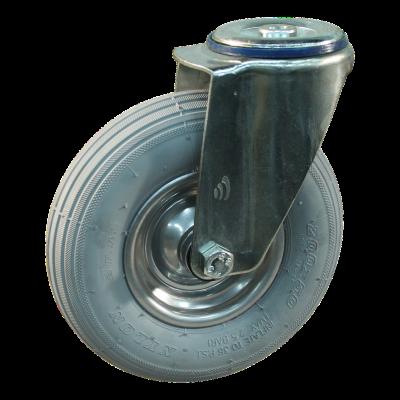 Roulette pivotante 200x50 HF-207A 2PR 1.25x3.8 (200x50) ET0 NL60 12 métal, gris