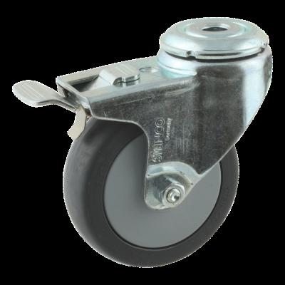 Lenkrolle mit Feststeller 75mm serie 64 - 40
