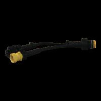 Câble adaptateur voor standaard 5p bajonet kabel, 2 x 5p bajonet + aftakking voor mist-, achteruitrijlamp 100mm + 100mm