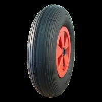Komplettrad 3.50-8 V-5501 4PR + 2.50Ax8 Rollenlager Ø20 NL88 kunststoff, Rot