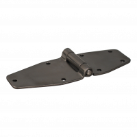 Vlinderscharnier , met gatenpatroon , 60mm x 209mm , scharnierblad rvs