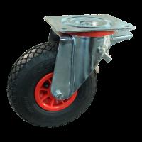 Zwenkwiel geremd 3.00-4 V-6605 2PR 2.10x4 rollager Ø20 NL75 91 kunststof, rood